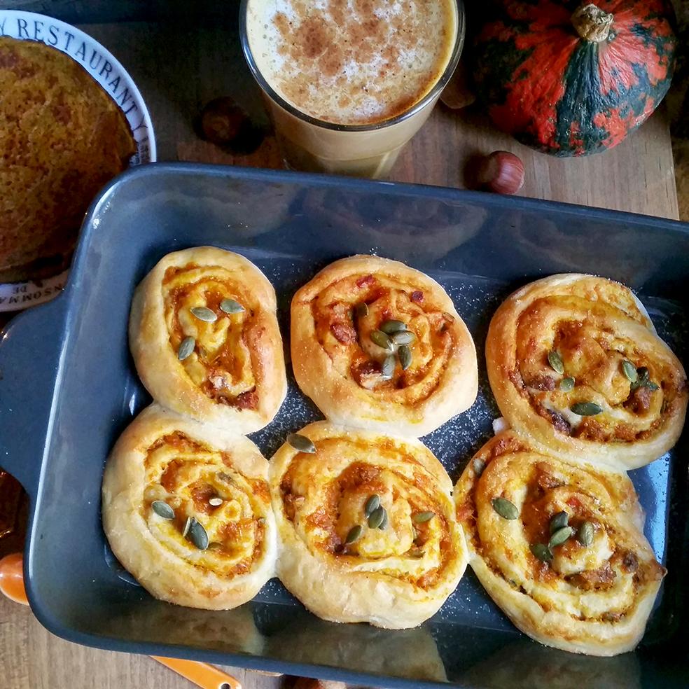 Brioches roulées façon Pumpkin Pie